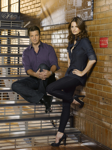 Castle wallpaper with a business suit and a penal institution entitled Castle/Beckett