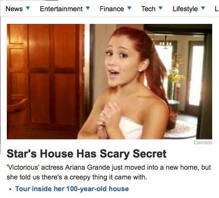 Cat's creepy house!