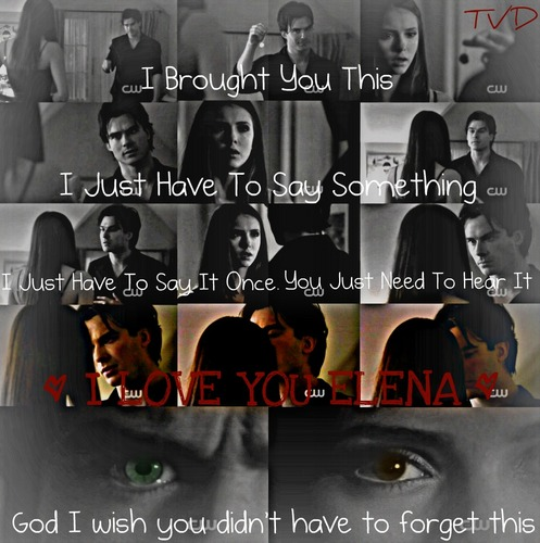 Damon says to Elena I Love آپ (I love this scene)