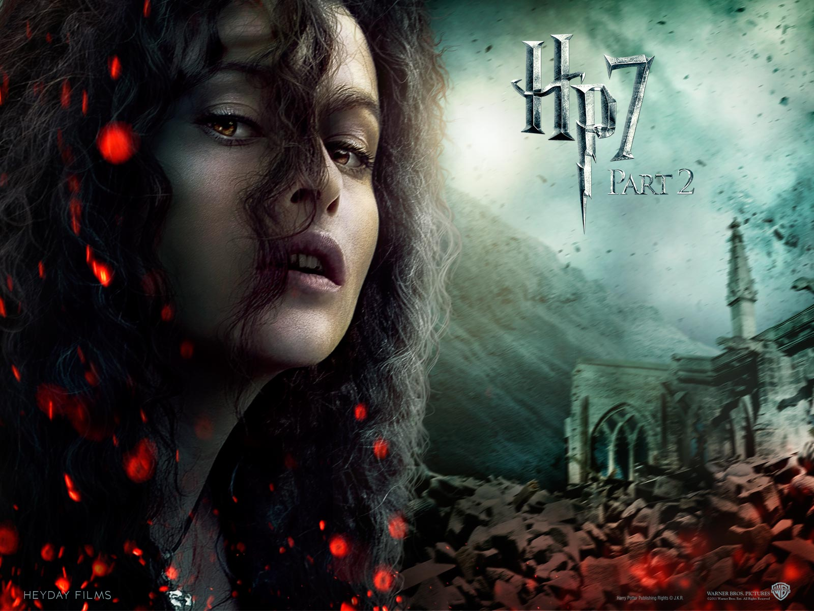 Deathly Hallows Part II Official Wallpapers - Bellatrix Lestrange Wallpaper (23331871) - Fanpop