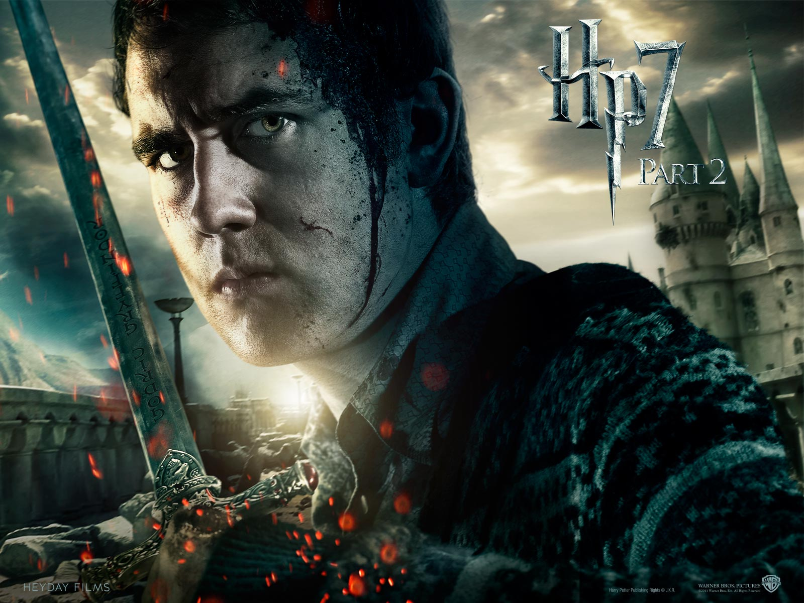 deathly hallows part ii official wallpapers harry potter