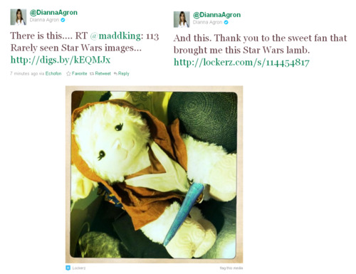 Dianna likes stella, star Wars. ♥