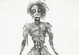 Edward Scissorhands drawings sejak Tim