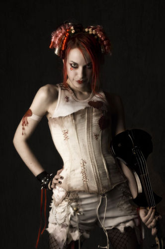 Emilie Autumn wallpaper possibly containing a cocktail dress, a bustier, and a kirtle entitled Emilie Autumn