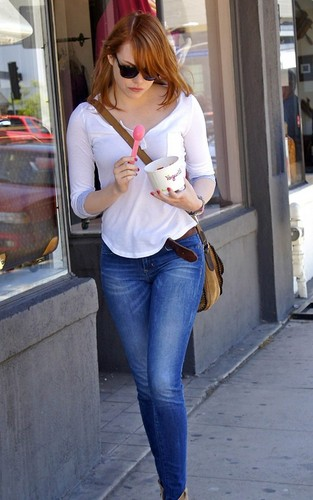 Emma Stone out and about this afternoon in West Hollywood, Ca (June 30).