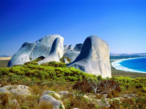 Eroded Granite - Cheynes Beach - australia Wallpaper