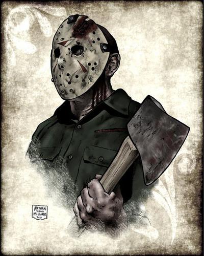 फ्राइडे द थर्टीन्थ वॉलपेपर with a cleaver and a कुल्हाड़ी called Final Chapter Jason