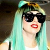 Lady Gaga photo probably containing a portrait called Gaga Aqua Hair Bow