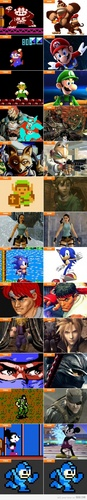 Game Characters Then and Now