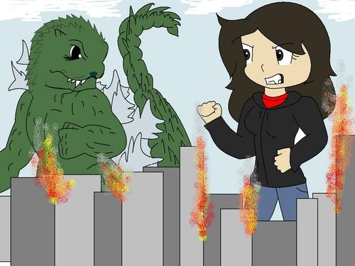 Godzilla Vs. Lizilla! XD