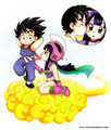 Goku&Chichi - dragon-ball-love fan art