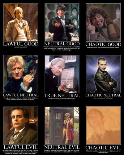 Doctor Who wallpaper possibly with a stained glass window entitled Good, Neutral, Evil Doctors ranks