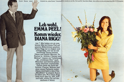 Goodbye Mrs Peel..Hello Diana Rigg (artical)