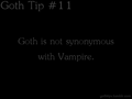 Goth Tip #11 - gothic fan art