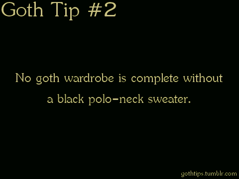 Goth Tip #2 - gothic Fan Art