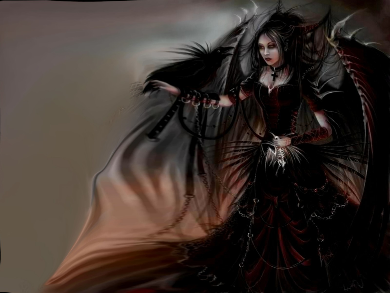 sexy gothic fairy wallpaper - photo #11