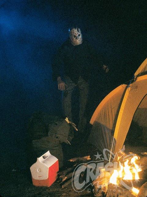 Jason Stalking Rob's Tent