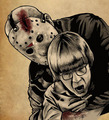 Jason and Tommy - friday-the-13th fan art