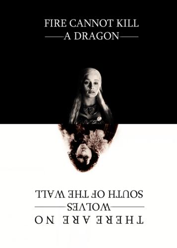 Jon & Daenerys wallpaper probably with anime titled Jon & Daenerys