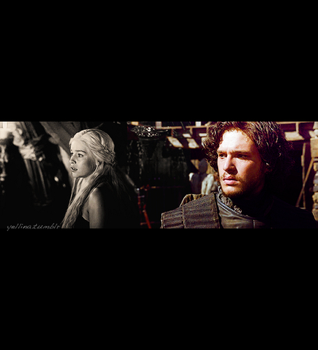 Jon & Daenerys wallpaper possibly with a concert, a television receiver, and a business suit entitled Jon & Daenerys