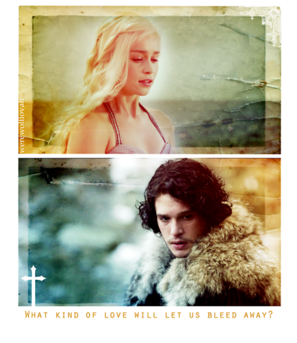 Jon & Daenerys wallpaper probably with a fur coat and a portrait entitled Jon & Daenerys