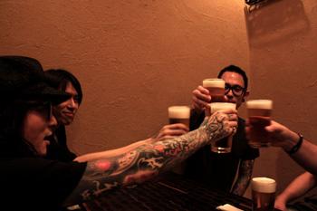 Kaoru and Die with Matt and Corey from Trivium