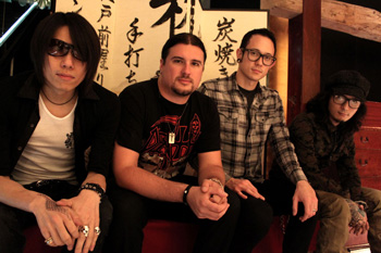 Kaoru and Die with Matt and Corey from Trivium