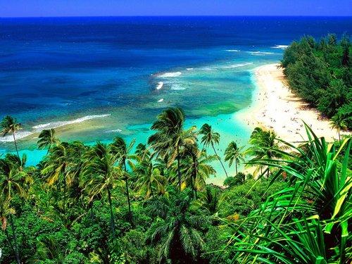 Kee beach, pwani - Kauai