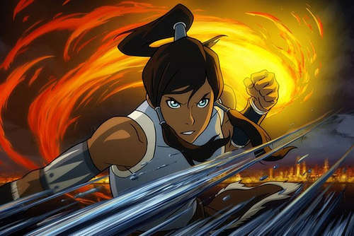 Korra first look at her face