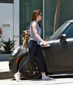 Kristen Stewart is spotted leaving the gym in West Hollywood, June 30 - kristen-stewart photo