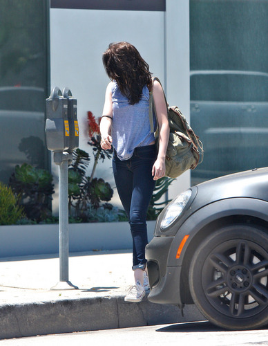 Kristen Stewart is spotted leaving the gym in West Hollywood, June 30