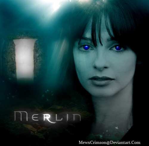 Merlin on BBC wallpaper possibly containing a portrait called Merlin Season 4  Freya Poster