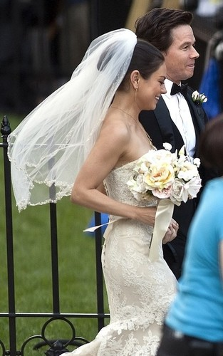 Mila Kunis and Mark Wahlberg getting married on-set in Boston (June 30).