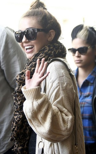 Miley Cyrus leaving the Witches Cauldronin Perth (July 1).