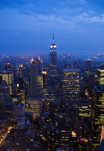 New York wallpaper with a business district, a skyscraper, and a refinery entitled New York | ♥