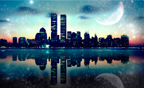 New York wallpaper containing a business district and a refinery called New York | ♥