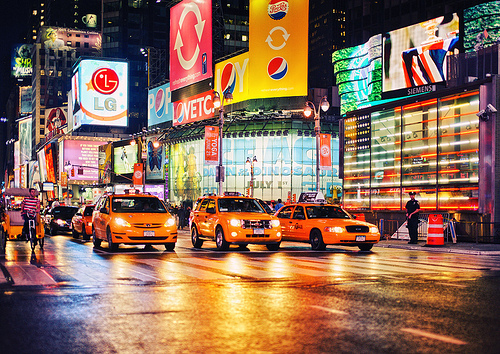 New York wallpaper with a cab and a street called New York | ♥