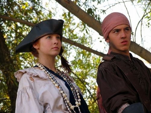 New/old poster and still of Candice in 'Pirate Camp' [2007]!
