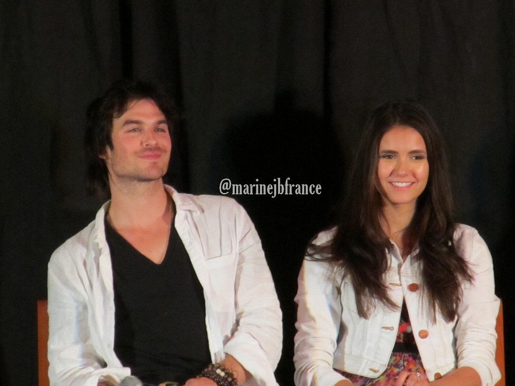 Nimes Q&A - ian-somerhalder-and-nina-dobrev photo