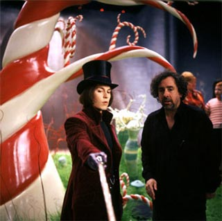 On the set Of charlie and the chocolate factory !!