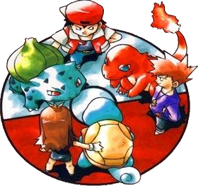 The 90s wallpaper titled Pokemon Red, Blue, and Green (Japan only)