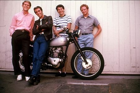 Richie,Fonzie,Potzie, and Ralph Motorcycle