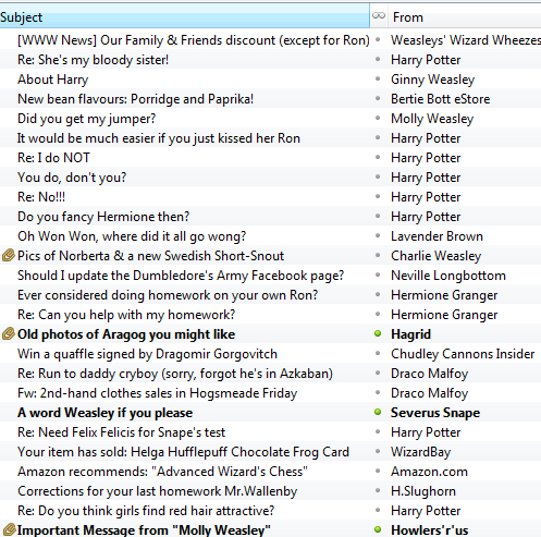 Ron's इनबॉक्स
