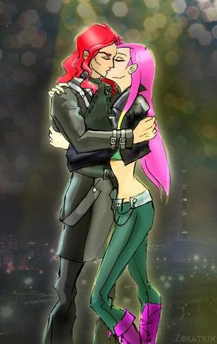 Roxy and Ogron Kissing