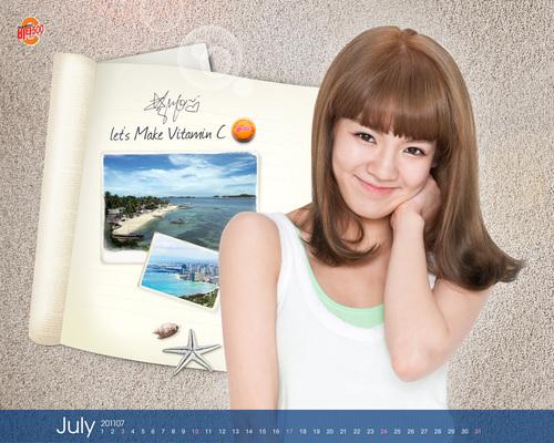 SNSD Hyoyeon Vita500 July 2011 Calendars