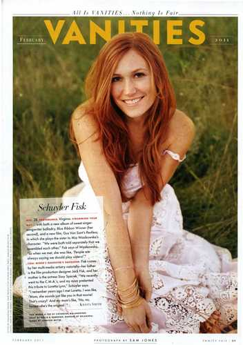 Schuyler Fisk in Vanity Fair - Feb 2011