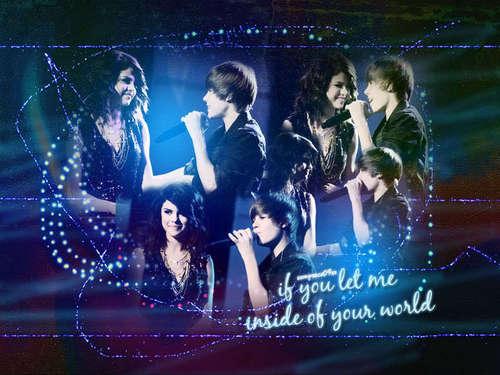 Selena and Justin वॉलपेपर xox