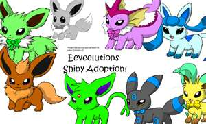 Shiny Eevee evolutions - shiny-pokemon-club Photo