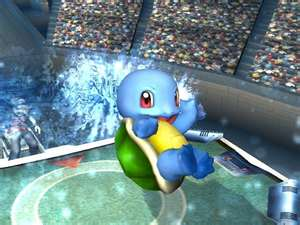 Shiny Squirtle on water gyser - squirtle Photo