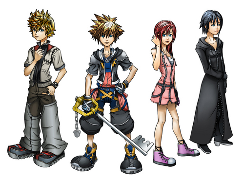 Kingdom Hearts wallpaper called Sora Roxas kairi xion